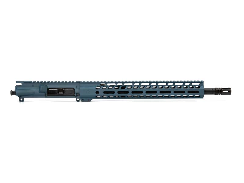 Ghost Firearms Elite 16″ 5.56 NATO Rifle Upper (No BCG, No Charging Handle) – Blue Titanium