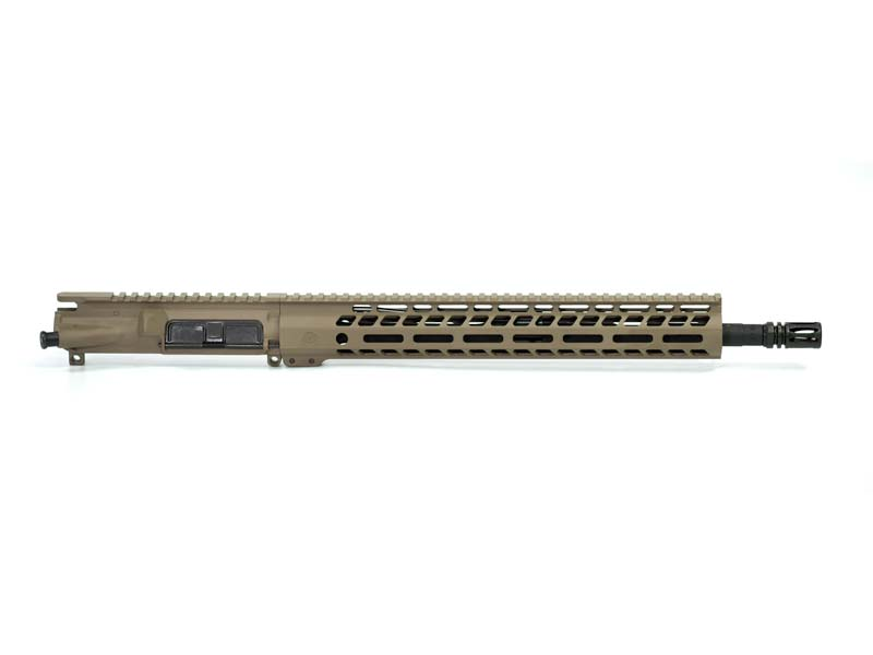 Ghost Firearms Elite 16″ 5.56 NATO Rifle Upper (No BCG, No Charging Handle) - Flat Dark Earth FDE