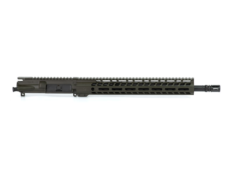 Ghost Firearms Elite 16″ 5.56 NATO Rifle Upper (No BCG, No Charging Handle) - Olive Drab OD Green