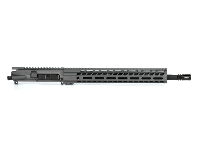 Ghost Firearms Elite 16″ 5.56 NATO Rifle Upper (No BCG, No Charging Handle) - Tungsten Grey