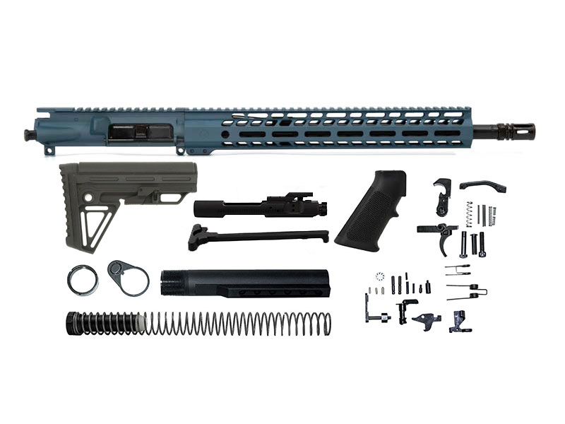 Ghost Firearms Elite 16″ 5.56 NATO Rifle Kit – Blue Titanium