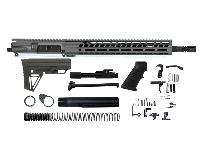 Ghost Firearms Elite 16″ 5.56 NATO Rifle Kit – Tungsten Grey