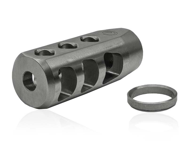 "Ghost Firearms .223/5.56 1/2""x28 AXE Muzzle Brake - Stainless Steel"