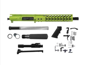 ar-15 pistol kit with zombie green cerakote gun coatings ar-15 platform