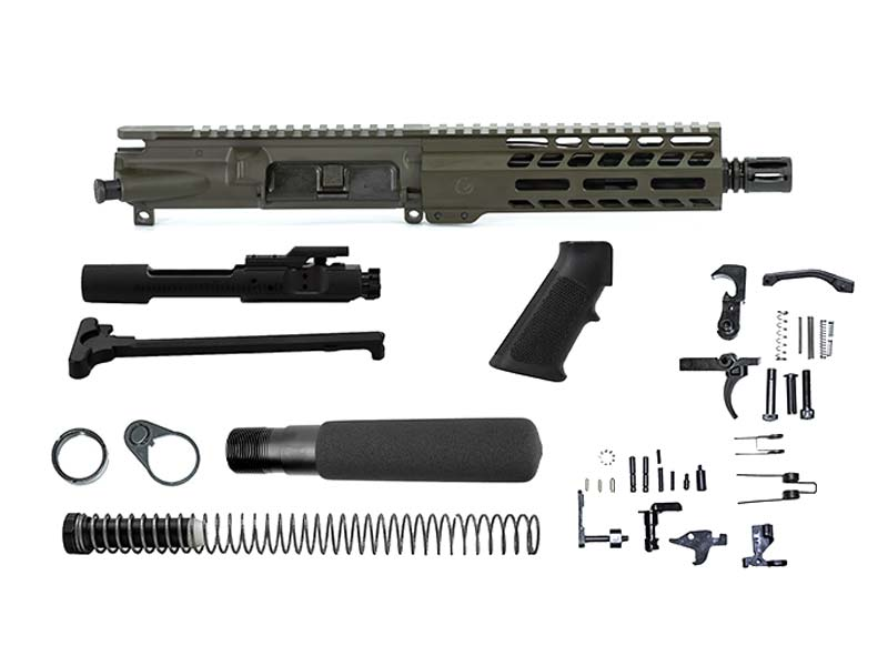 Ghost Firearms Elite 7.5″ 300 Blackout Pistol Kit in Olive Drab OD Green