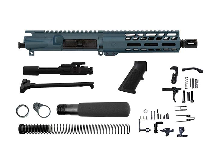 Ghost Firearms Elite 7.5″ 300 Blackout Pistol Kit in Blue Titanium