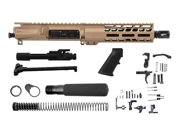 Ghost Firearms Elite 7.5″ 300 Blackout Pistol Kit in Flat Dark Earth FDE