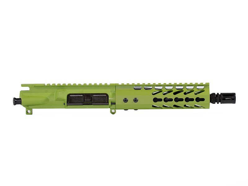 "zombie green 7.5"" upper with keymod rail"