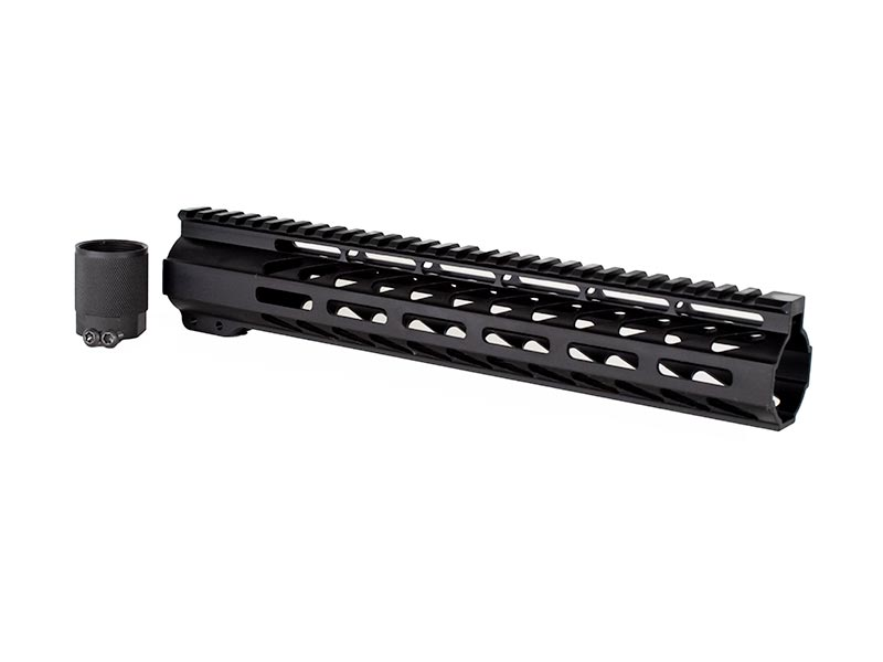 12 inch black m-lok handguard for ar15 rifle