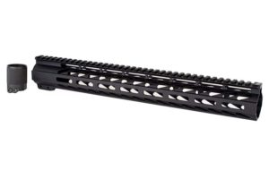 "15"" m-lok handguard for ar 15 rifle black"