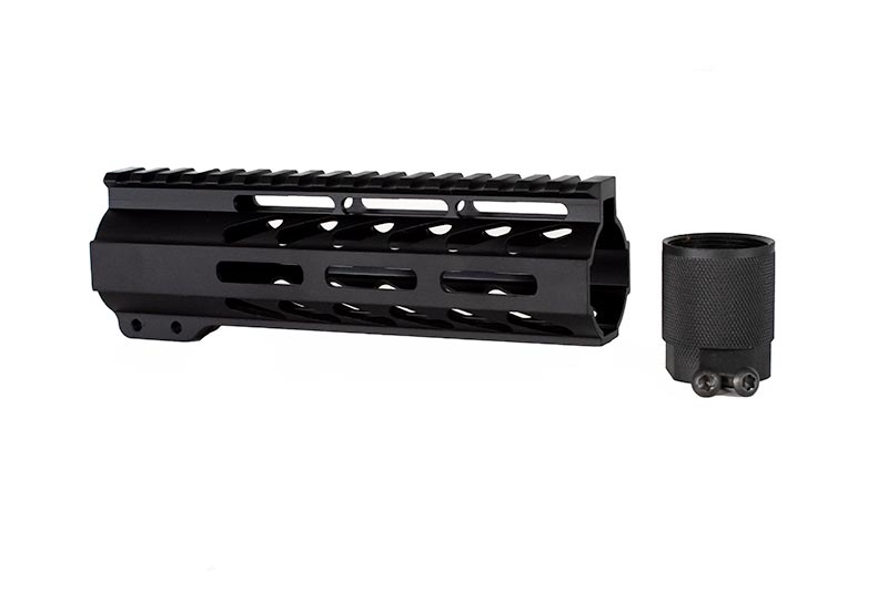 7 inch free float m lok handguard in black