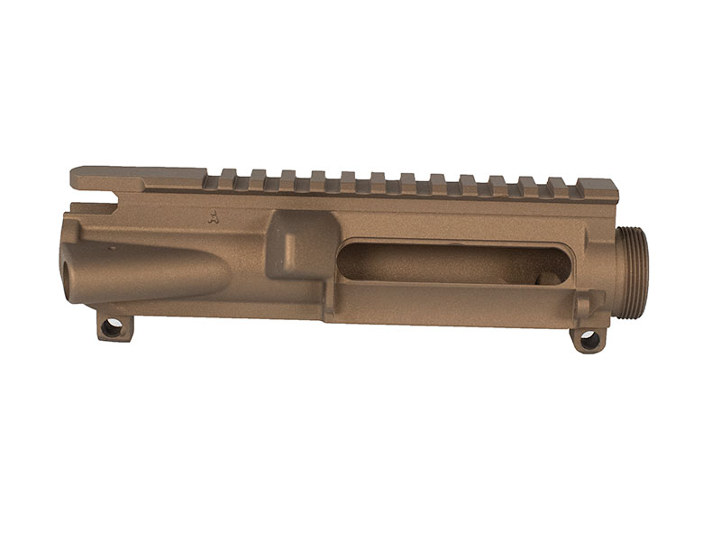 Burnt Bronze Cerakote AR-15 strippedupper
